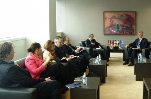 Thaçi meets the ambassadors of the Quint countries and EU ambassadors