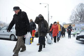 Winter is back in Romania