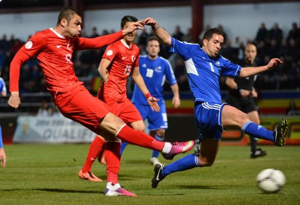 Turkey defeats Andorra 2-0