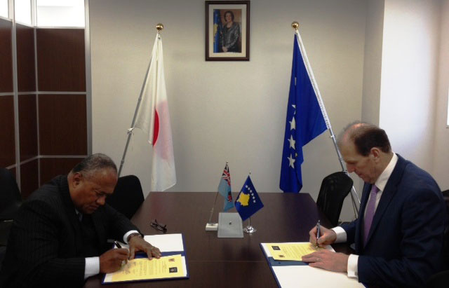 The Republic of Kosovo establishes diplomatic relations with the Republic of Fiji