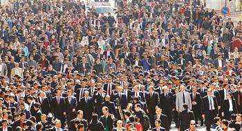 Huge crowd greets Turkish President Gül in eastern province of Muş