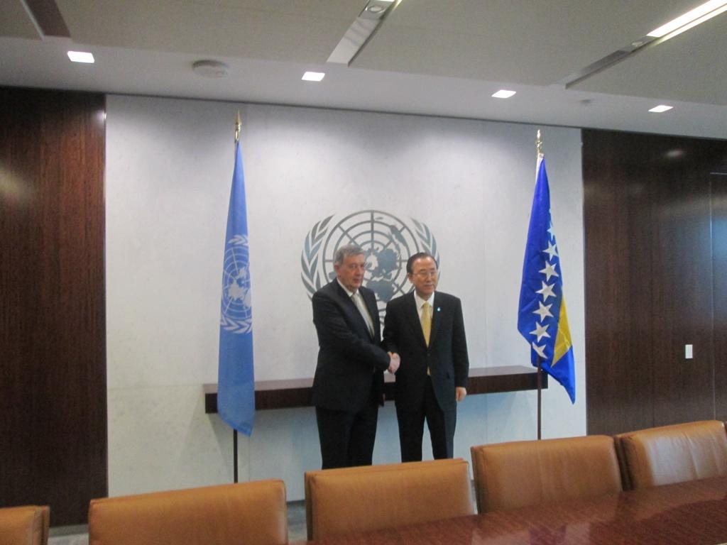 Chairman of BiH Presidency met with Ban Ki Moon in New York