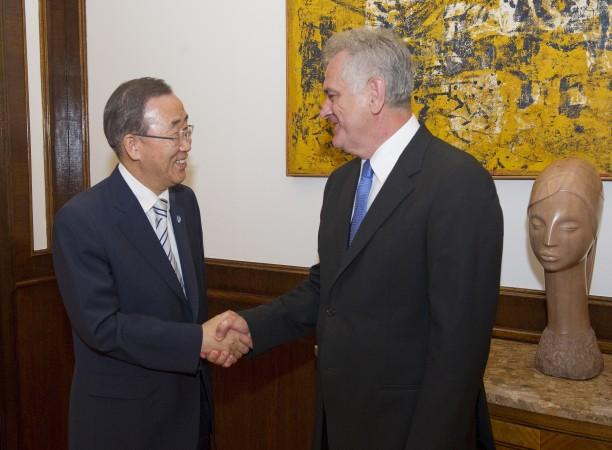 Serbian president meets with UN secretary general