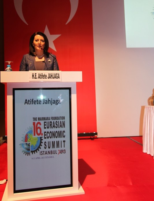 Jahjaga in Istanbul: Our development is based on the work power and natural resources