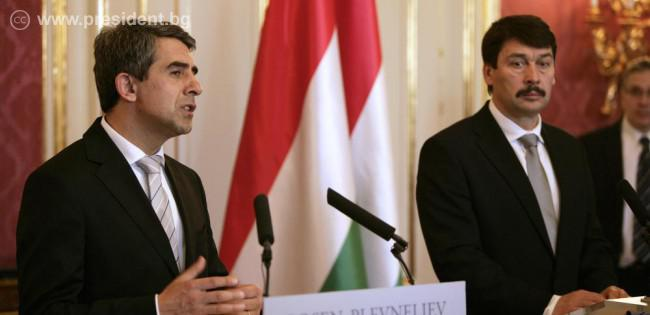 Presidents of Bulgaria and Hungary discuss widening energy sector co-operation