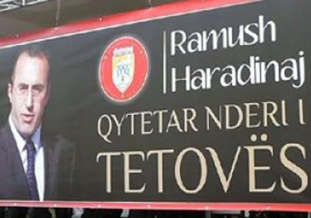 """Tetovo annuls Haradinaj's """"Honorary Citizen"""" award"""