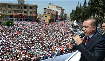 'Those who seek to preserve their dictatorship disrupted our peace', Turkish PM says in Reyhanlı