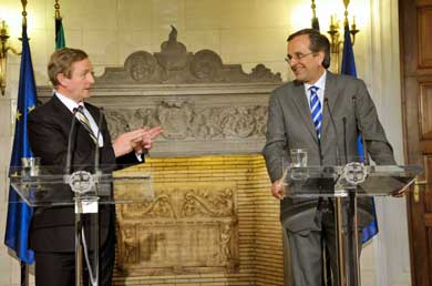 Irish model inspires Samaras as Stournaras eyes primary surplus, more debt relief