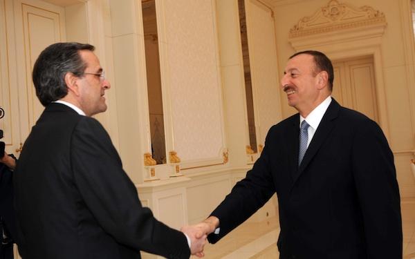 Samaras vows return visit to Azerbaijan after talks with Aliyev in Baku