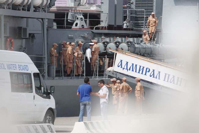 Historic visit by Russian warships