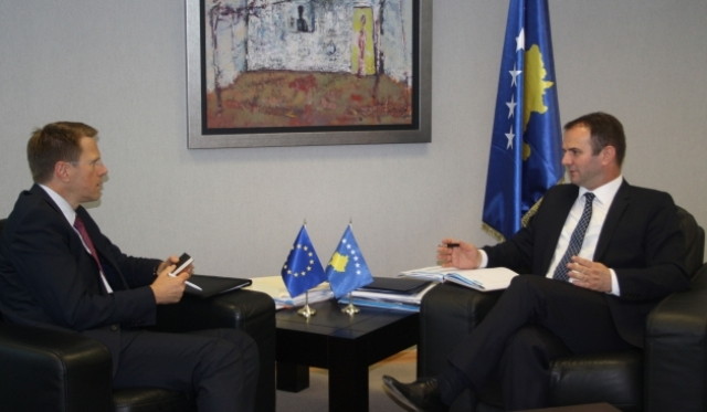 Deputy PM Kuçi briefs the head of the EU in Pristina on the Brussels agreement