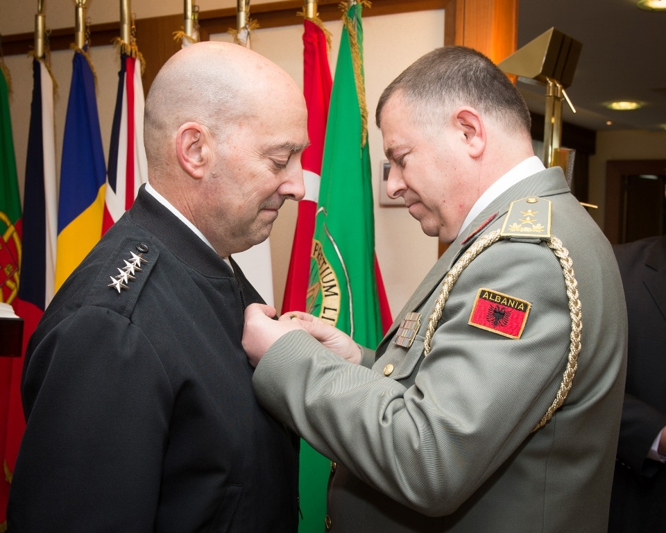 """Admiral Stavridis receives """"Medal of Gratitude"""" by the Albanian President"""