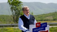 Berisha in Liqenas: The reforms protected the Albanian economy