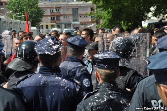 SD protests against the agreement, 36 people arrested