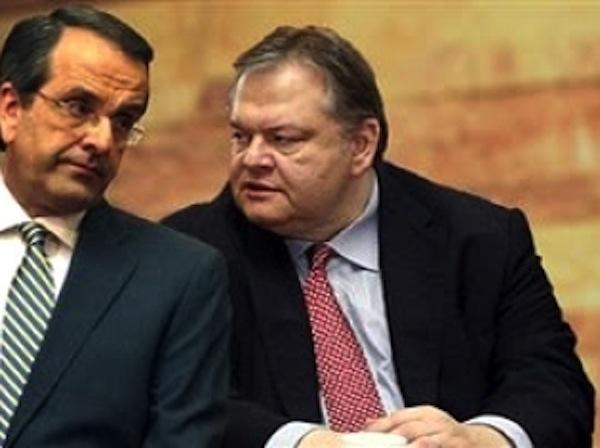Samaras and Venizelos iron out fresh coalition deal