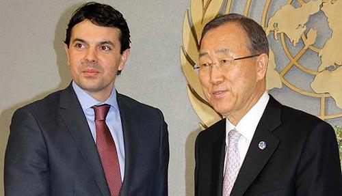 FYROM Foreign Minister meets secretary general Ban Ki Moon