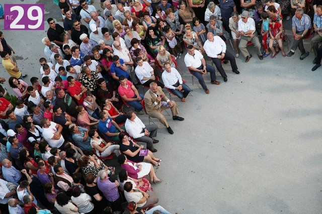 Leader of the SP holds an electoral meeting in Dervician