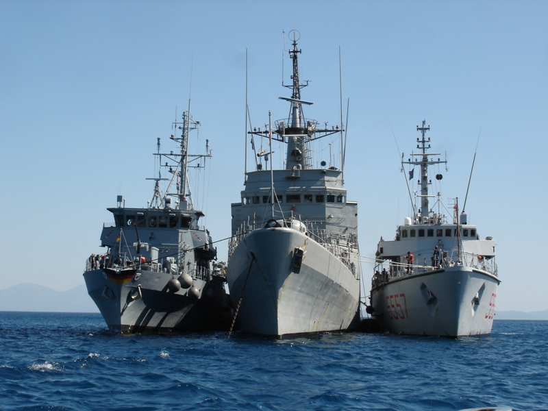 NATO Mine Counter-measuring Ships standing 4 days in the port of Valona