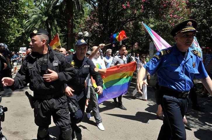 Violent incidents in Montenegro during a parade organized by homosexual community