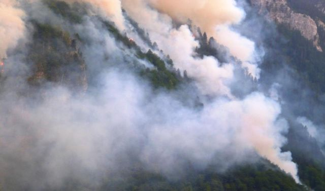 Forest Fire Erupted Near Jablanica on Monday