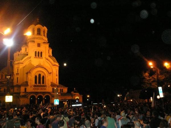 Police break Bulgarian anti-government protesters' blockade of Parliament