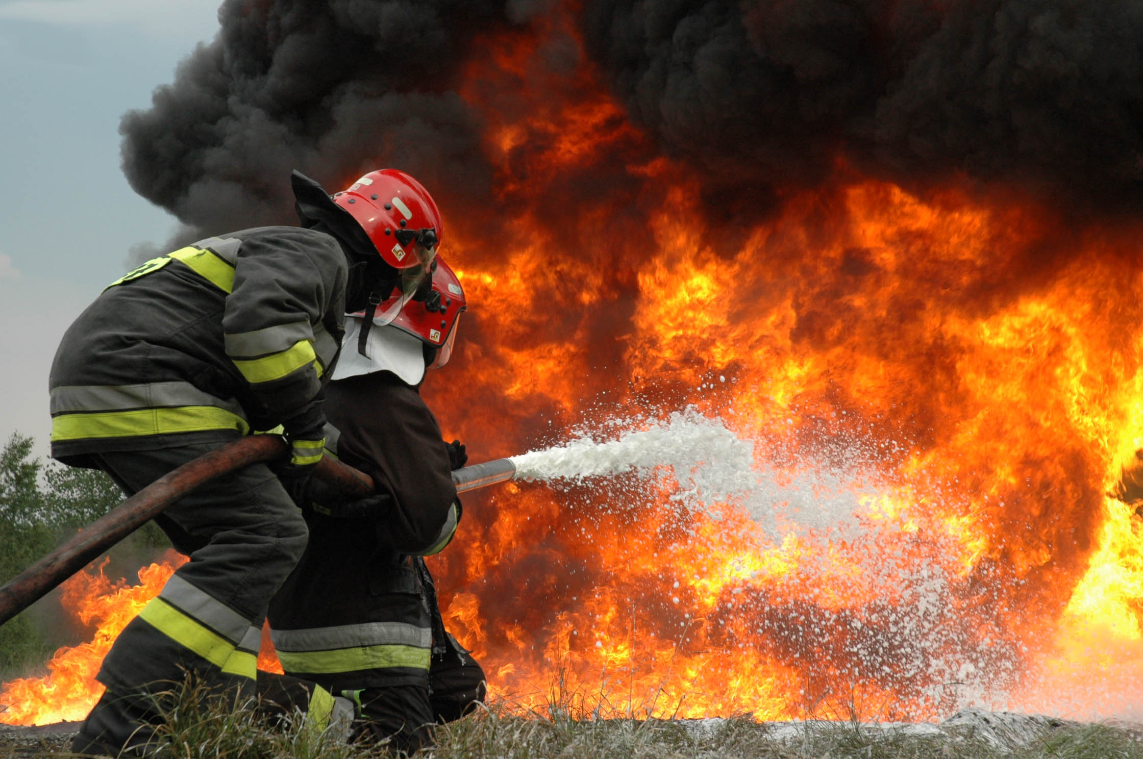Firefighters attempt to extinguish flames in Maribor's recycling plant