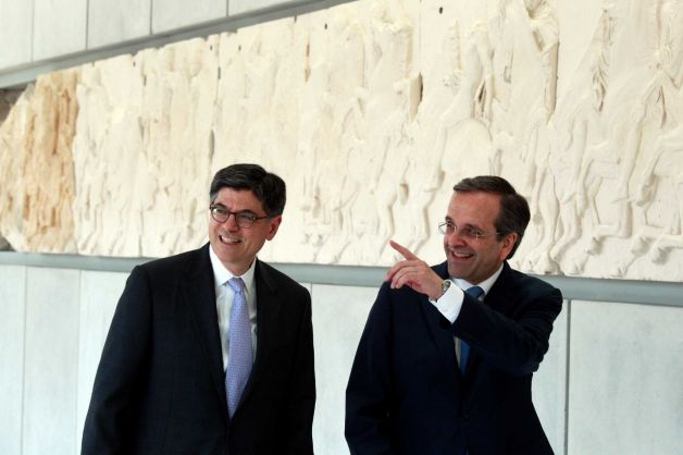 US Treasury Secretary Shows Support for Greek Effort to Exit Crisis