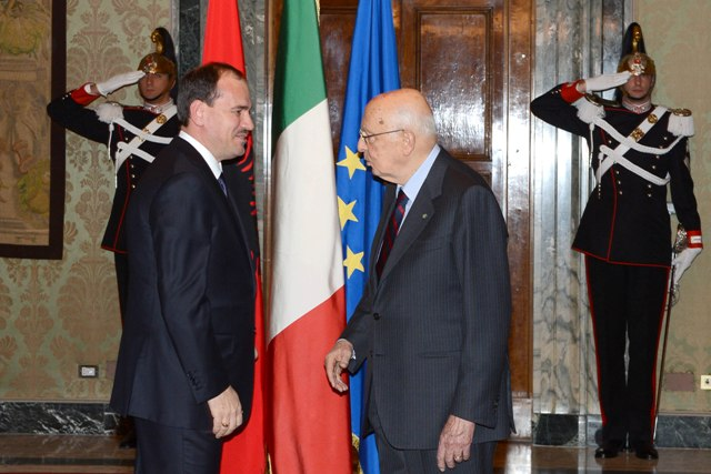 Napoletano to Nishani: Friendship characterizes the relations between the two countries