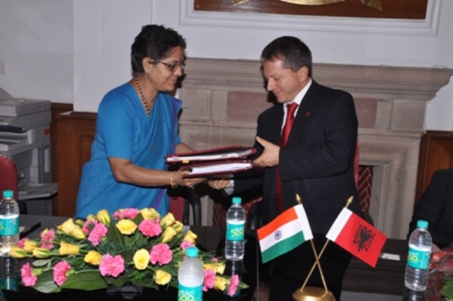 Agreement between Albania and India to avoid double taxation