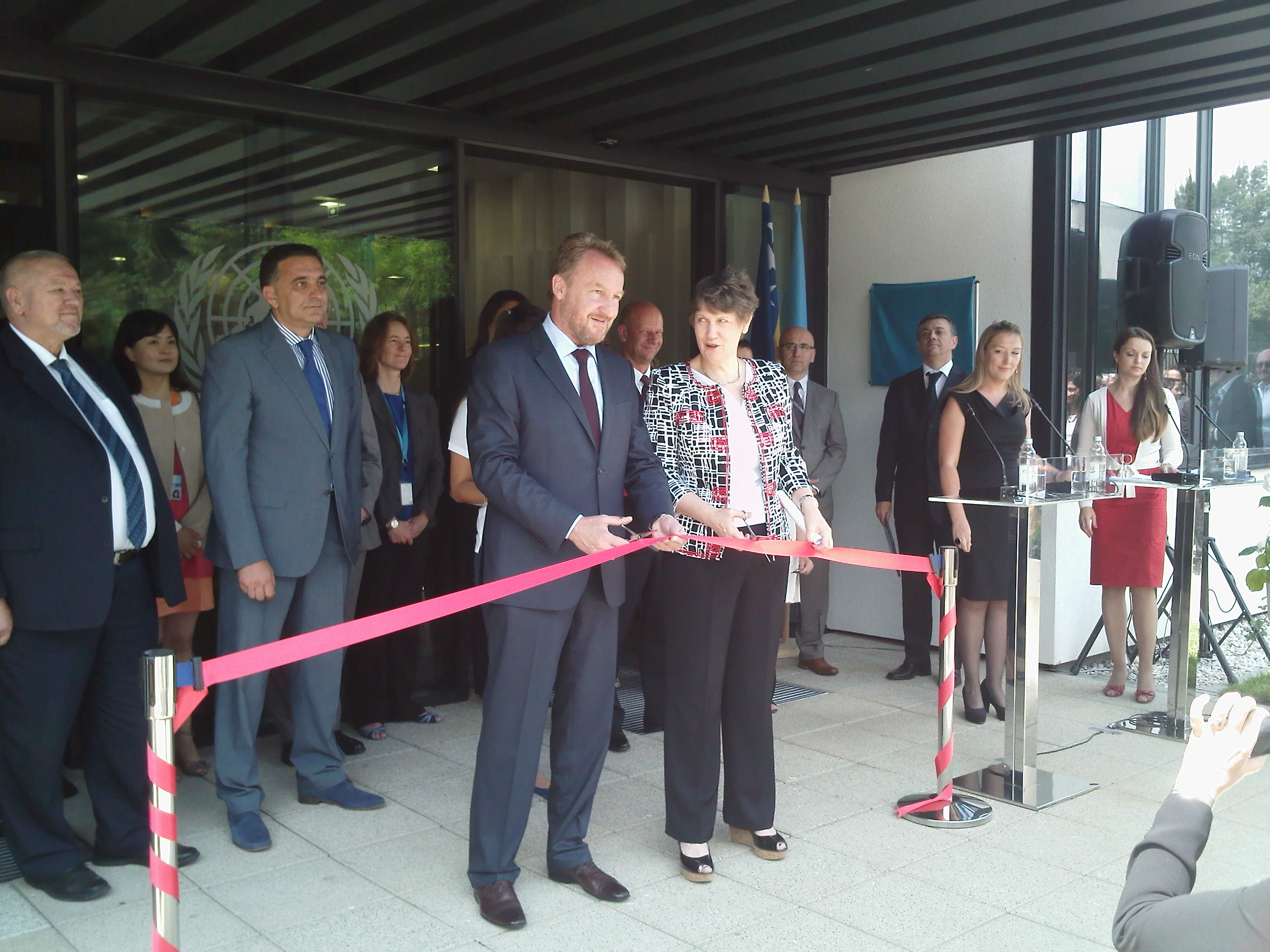 Opening Ceremony for New UN Building in Sarajevo