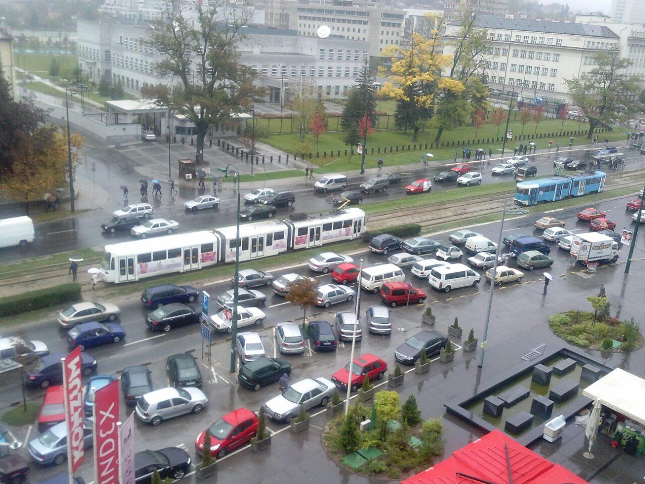 Public Transportation in Sarajevo Halted