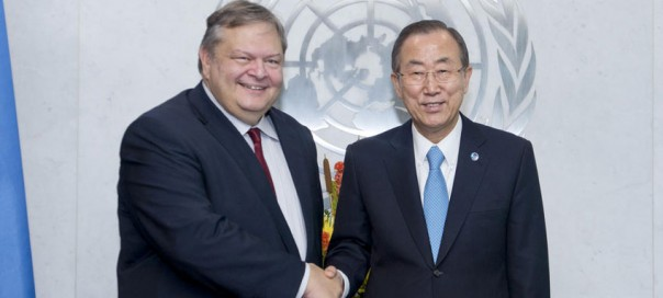 FYRO Macedonia name dispute tops agenda in UN chief's meeting with Greek foreign minister