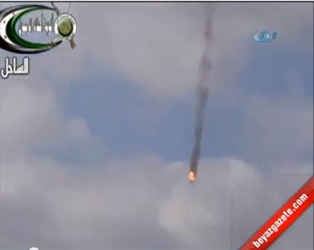 The first images of the helicopter's shoot-down in Syria