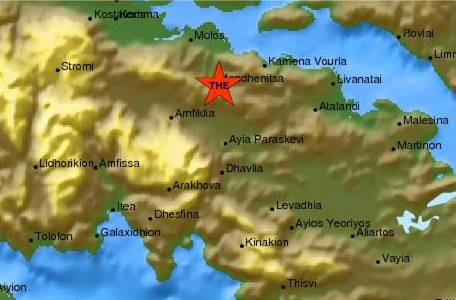 Earthquake at 3.9R in central Greece