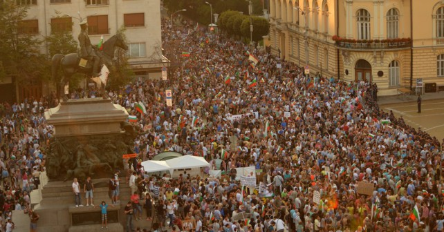 Bulgarian anti-government protests reach third month on September 14