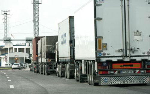 Border crossing point of Bllace between Kosovo and FYROM is blocked