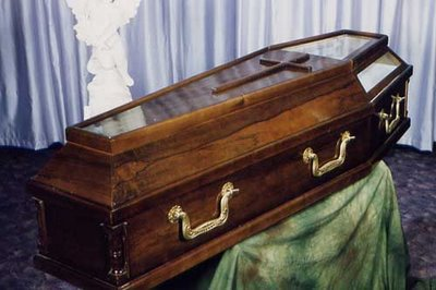 Marijuana was in the coffin