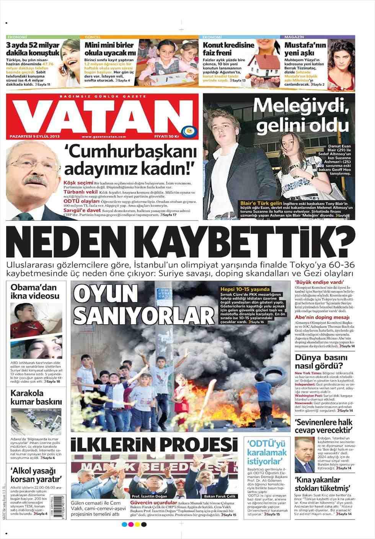 Istanbul failed Olympic bid dominates Turkish newspaper headlines