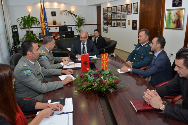FYROM and Albania will intensify military cooperation