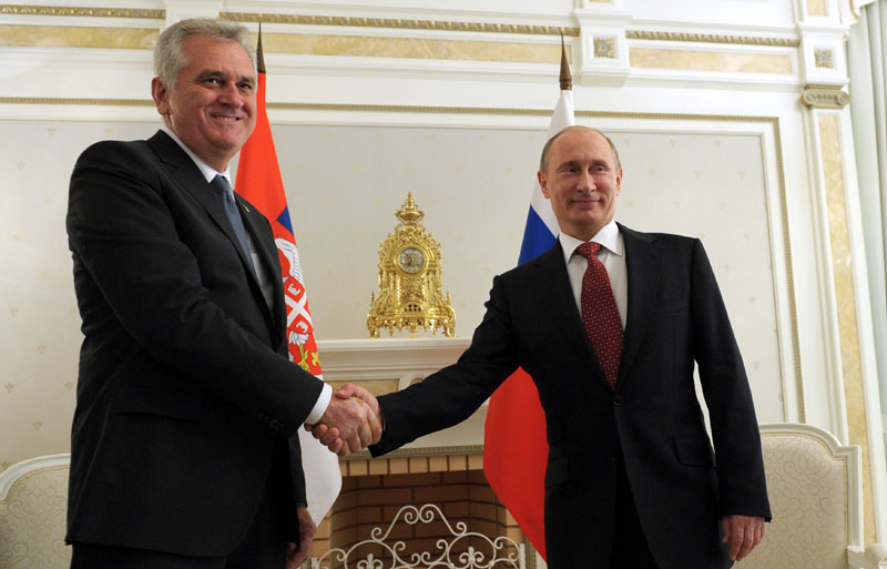 At the meeting with Putin, Nikolić criticized his own government