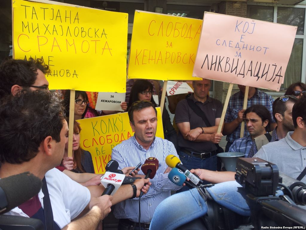 Journalist imprisonment triggers protests in Skopje, Fule reacts