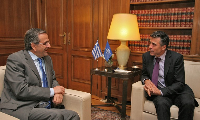 PM Samaras meets with head of NATO