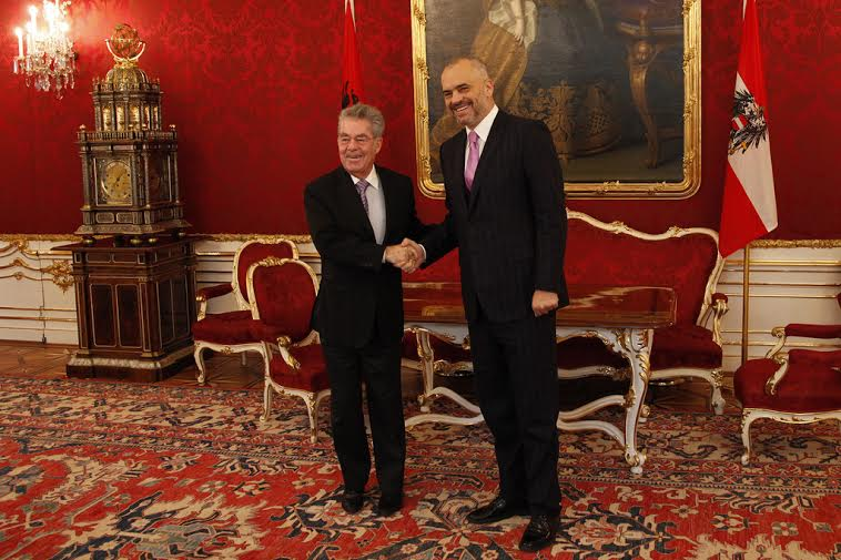 Premier Rama received by the Austrian president
