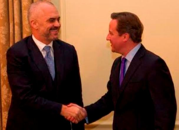 Premier Rama received by British PM in London