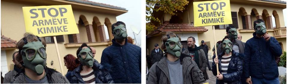 """Protests in Skopje: Albania, say """"No"""" to Syria's chemical weapons"""