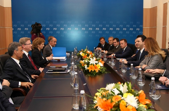 EU commissioner Fule received by leader of opposition