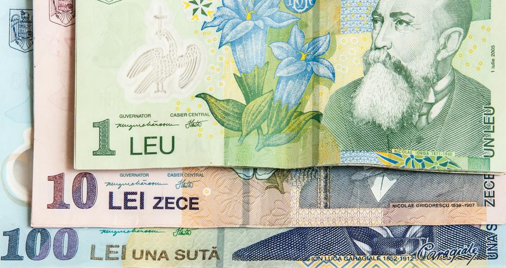 Romanian leu rose against euro in annual basis