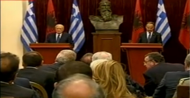 President Nishani receives in a meeting his Greek counterpart: The war law should be abrogated, solution to the sea border