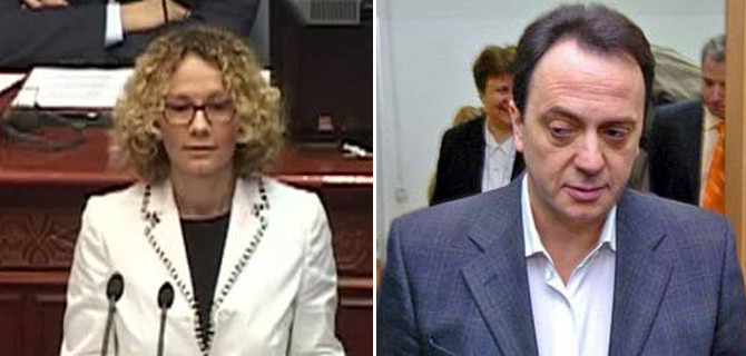 Polemics continue between the head of secret services and deputy chairwoman of LSDM