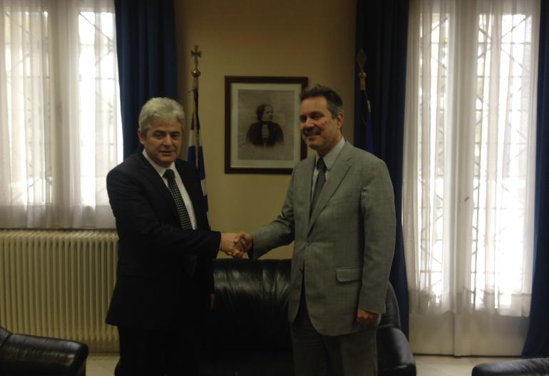 Leader of BDI meets the Greek ambassador to Skopje, solution for the name dispute